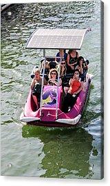 Solar Powered Boat Acrylic Print by Photostock-israel