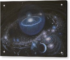 Acrylic Print featuring the painting Solar System by Min Zou