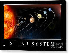 Solar System Poster Acrylic Print by Stocktrek Images