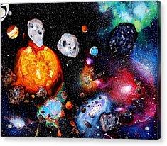 Solar System Acrylic Print by Raymond Perez