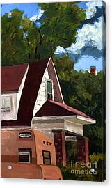 Sold E.hopper's Camper Acrylic Print by Charlie Spear