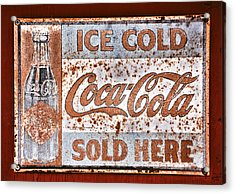 Sold Here Acrylic Print by Karol Livote