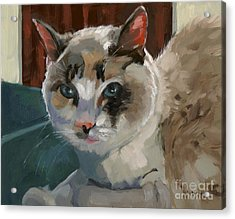 Acrylic Print featuring the painting Sold -nelly Logan by Nancy  Parsons