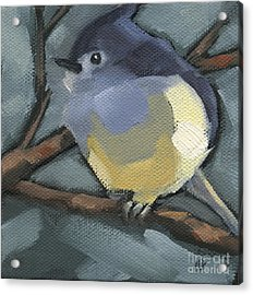 Acrylic Print featuring the painting Sold Titmouse Camo by Nancy  Parsons
