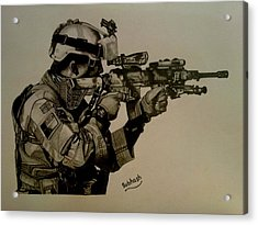 Soldier Colt Situation Afghanistan Acrylic Print