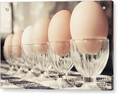 Soldier Eggs Acrylic Print by Cheryl Baxter