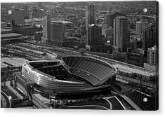 Soldier Field Chicago Sports 05 Black And White Acrylic Print