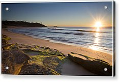 Soldiers Beach Acrylic Print by Steve Caldwell