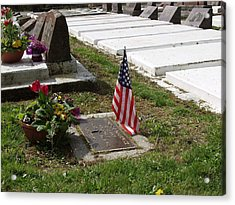 Soldiers Final Resting Place Acrylic Print by Ron Roberts
