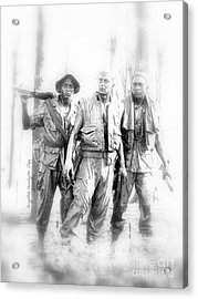 Soldiers Never Forgotten Acrylic Print by Angelia Hodges Clay