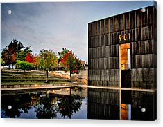 Solemn Reflections - Okc Memorial Acrylic Print