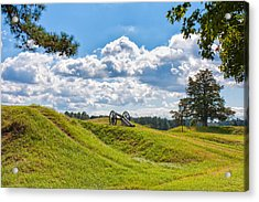 Solitary Cannon At Yorktown Acrylic Print