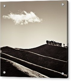 Solitary Cloud Acrylic Print by Dave Bowman