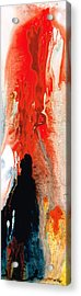 Solitary Man - Red And Black Abstract Art Acrylic Print by Sharon Cummings