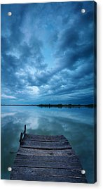 Solitary Pier Acrylic Print by Davorin Mance