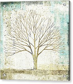 Solitary Tree Collage Acrylic Print by Avery Tillmon