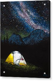 Acrylic Print featuring the painting Solitude by Aaron Spong