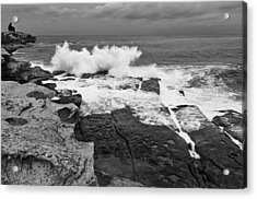Acrylic Print featuring the photograph Solitude - Black And White by Photography  By Sai