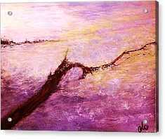 Acrylic Print featuring the painting Solitude by Cristina Mihailescu