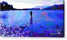 Solitude In Blue Acrylic Print by Dorinda K Skains