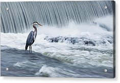Solitude In Stormy Waters Acrylic Print