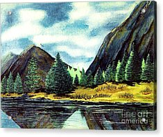 Acrylic Print featuring the painting Solitude by Patricia Griffin Brett