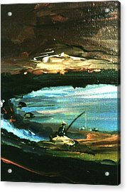 Acrylic Print featuring the painting Solitude by Ray Khalife