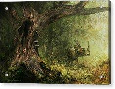 Solitude - Styracosaurus Acrylic Print by Angie Rodrigues