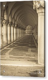 Solitude Under Palace Arches Acrylic Print
