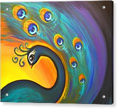 Acrylic Print featuring the painting Solo Dance Vortex by Agata Lindquist