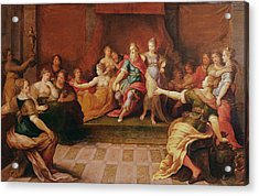 Solomon And His Women  Acrylic Print by Frans II the Younger Francken