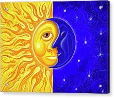Solstice Greeting Acrylic Print by David Kyte