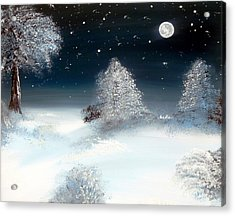 Solstice Snowfall I Acrylic Print by Alys Caviness-Gober
