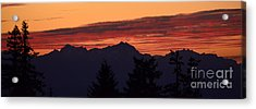 Solstice Sunset II Acrylic Print by Gayle Swigart