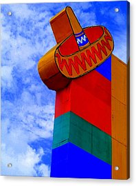 Sombrero Sign Acrylic Print by Randall Weidner