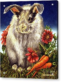 Some Bunny Is A Fuzzy Wuzzy Acrylic Print by Linda Simon
