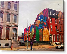 Some Color In Philly Acrylic Print