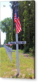 Acrylic Print featuring the photograph Some Gave All by Gordon Elwell