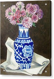 Some Mums Acrylic Print by Laura Aceto