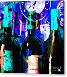 Some Things Get Better With Time - Square P180 Acrylic Print by Wingsdomain Art and Photography