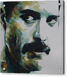 Freddie Mercury Acrylic Print by Paul Lovering