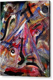 Acrylic Print featuring the painting Someone Is Always Watching by Ray Khalife