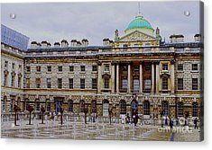 Somerset House Acrylic Print by MaryJane Armstrong