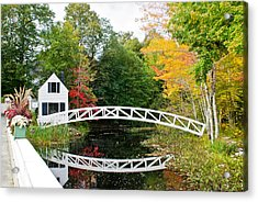 Somesville Bridge In Autumn Acrylic Print