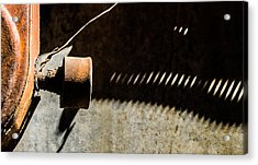 Acrylic Print featuring the photograph Something Old - Abstract by Steven Milner