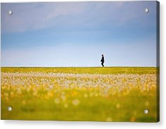 Sometimes We All Walk Alone Acrylic Print by Karol Livote
