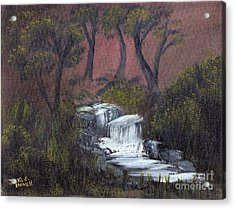 Somewhere Along A Waterfall Acrylic Print