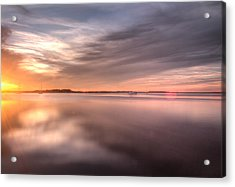 Somewhere Between That Setting Sun Acrylic Print by Wade Brooks