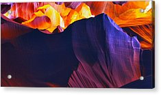Acrylic Print featuring the photograph Somewhere In America Series - Antelope Canyon by Lilia D