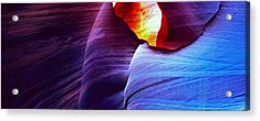 Acrylic Print featuring the photograph Somewhere In America Series - Blue In Antelope Canyon by Lilia D